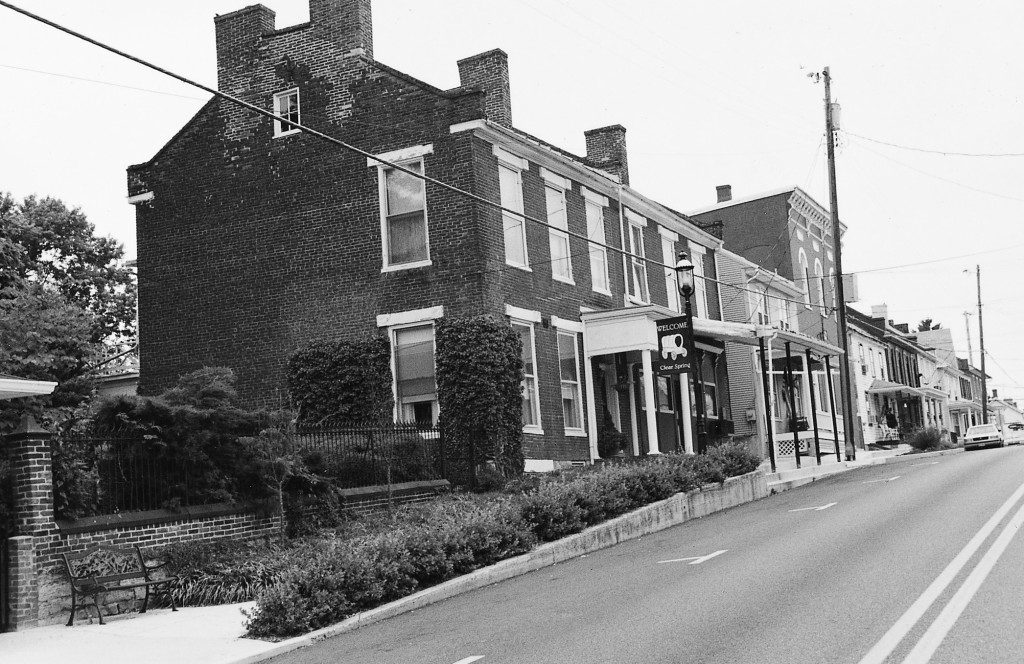 Photo of Cumberland Street, Clear Spring, Maryland. Photo by Natalie Brown (2002)