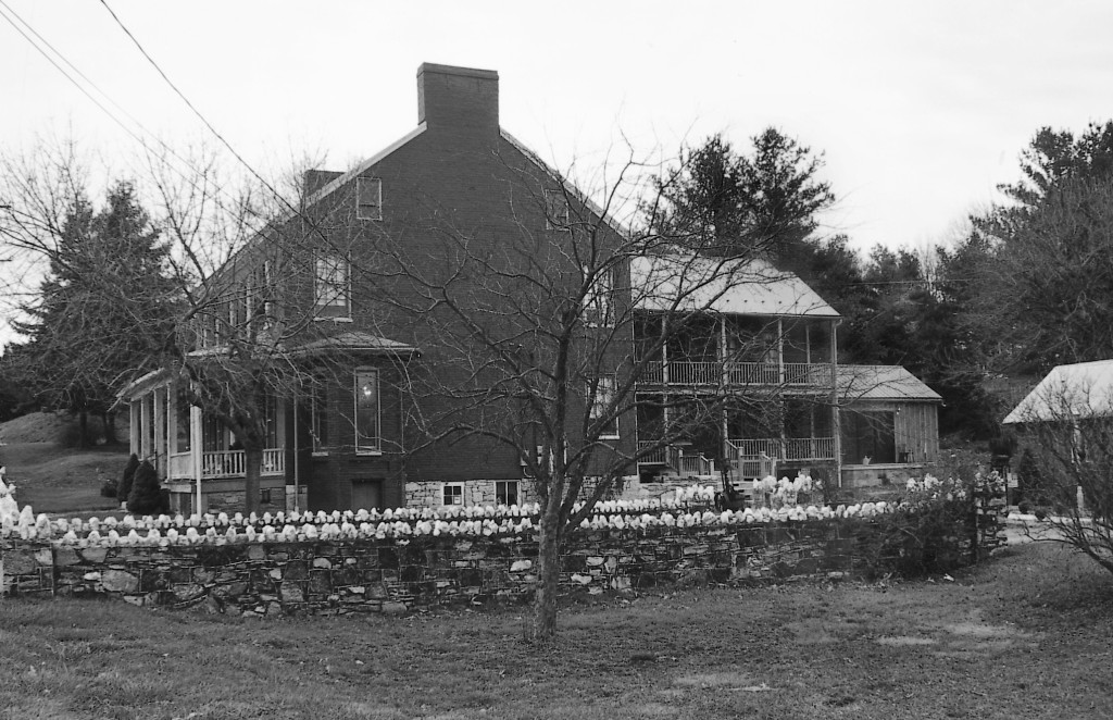 Built in 1823 by John Miller along the busy National Pike, today Miller's Tavern is being carefully restored by another family of Millers to be a bed and breakfast and gift shop. Photo by Kevin Finnin. 2002