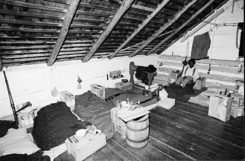 The loft was the mens sleeping quarters.