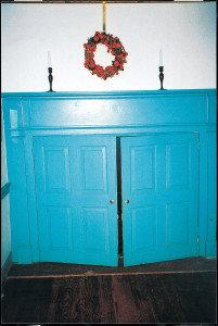 Lantz-Ziegler Farm, original fireplace doors