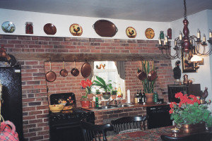 Paradise Manor, circa late 18th c  kitchen