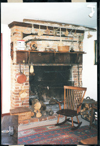 Angela Kirkham Davis House, service  fireplace