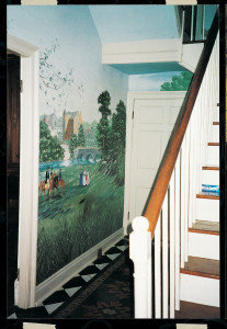 Angela Kirkham Davis House, hall mural