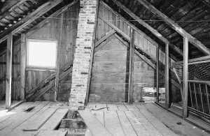 John Hogg House attic interior, Williamsport, MD