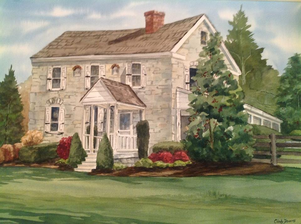 Keedy House Watercolor by Cindy Downs