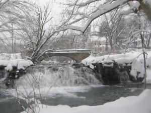 The Little Antietam Creek as it flows alongside the Jacob Hess House.