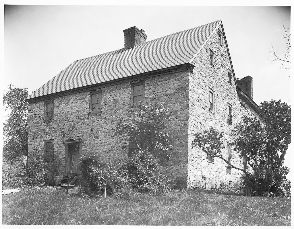 "Early undated photo of Old Forge Farm in  ""as found"" condition"
