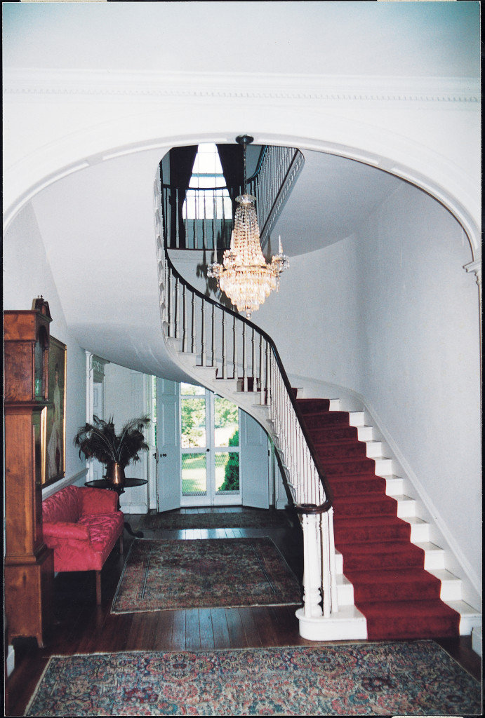 Rose Hill, hanging staircase in central hall