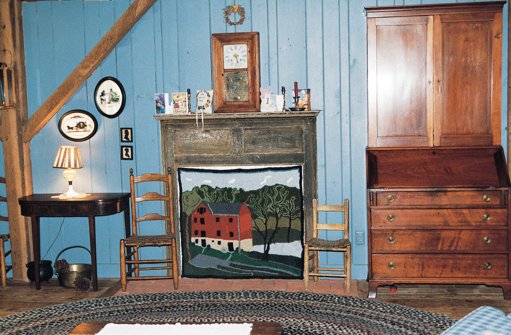A custom hooked rug depicting Pry Mill. Photo by Natalie Brown.