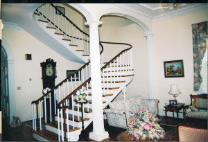 Rare example of a hanging staircase.